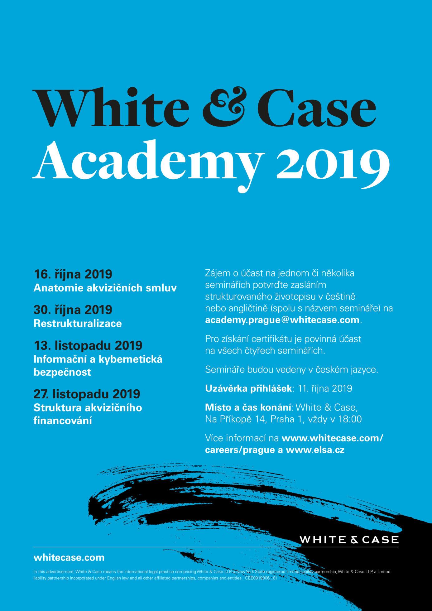 White & Case Academy 2019